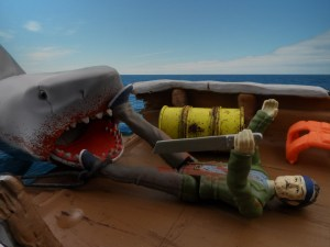 Jaws Reaction Figures Bloody Shark 12