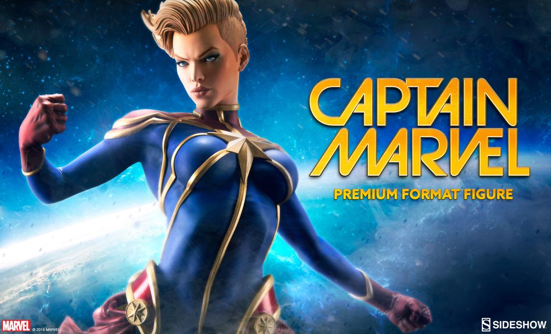 Captain Marvel Premium Format Figure Preview