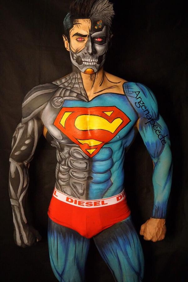 Comic Lover's Wife: Argenis Pinal's Bodypainting