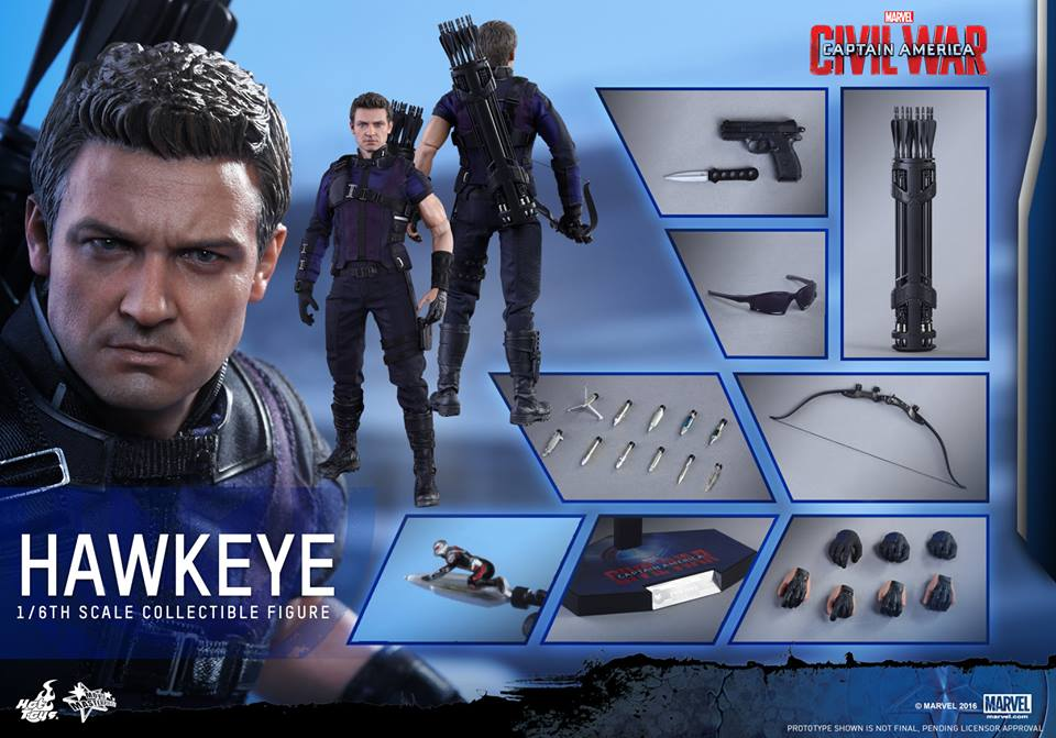 CA Civil War One Sixth scale Hawkeye