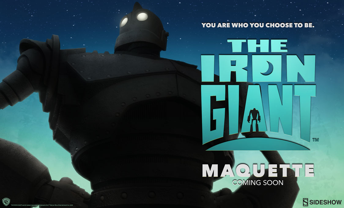 Sideshow Teases  Iron Giant Maquette