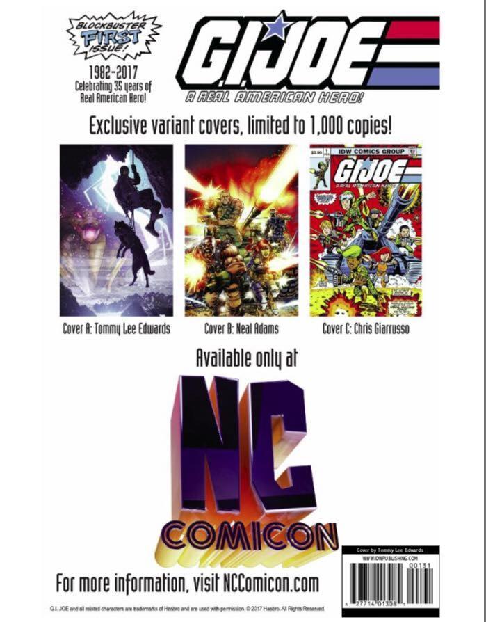 NCComicon- Oak City- GI Joe Special Edition Comic