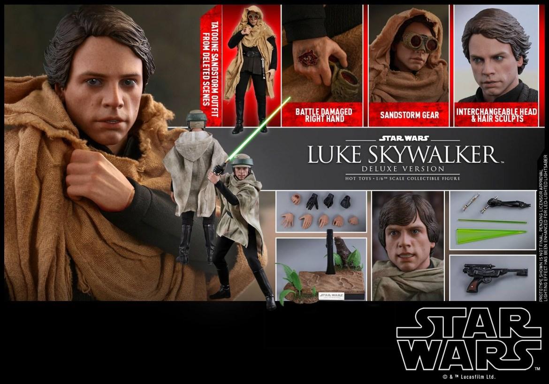 SW ROTJ – 1:6 Luke Skywalker Collectible Figure (Deluxe Version).