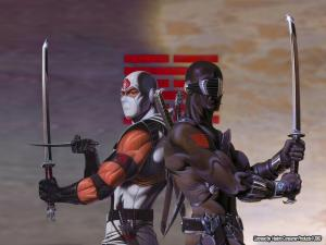 GI Joe Accessoire 1993 Ninja Force Night Creeper Compound Bow