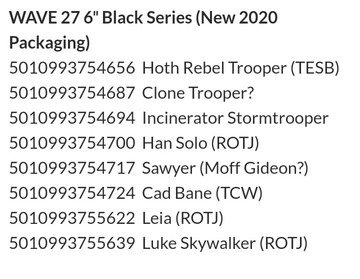 New Star Wars Black Wave Featuring ROTJ Leia and More