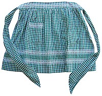 Apron with rickrack embroidery by Janet McCaffrey