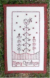 Free Pattern Christmas Redwork Needle Work