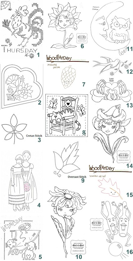 Free Patterns Hand Embroidery Needle Work