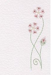 Free pattern: Prick-and-stitch flower
