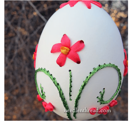 Image result for embroidery on eggs