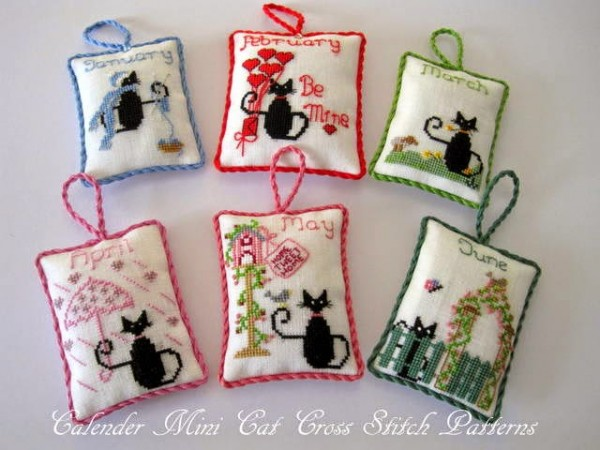 Black cat cross stitch patterns