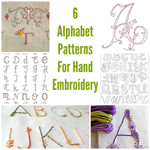 6 Alphabet Patterns For Hand Embroidery – Needle Work