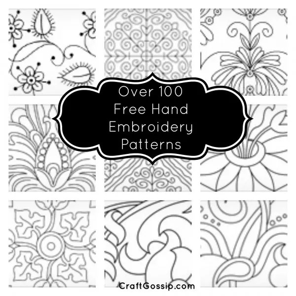 100 Free Hand Embroidery Patterns