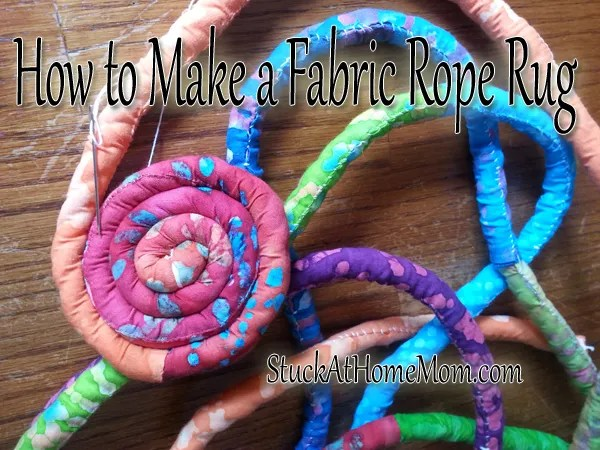 How To Make A Fabric Rope Rug Needle Work
