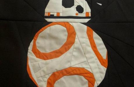 Free Pattern  To Make A BB- 8 Droid Star Wars Quilt