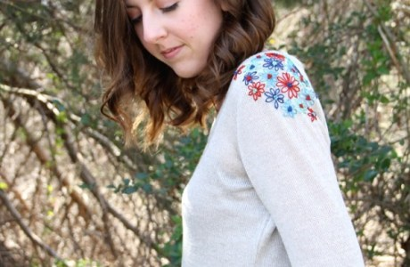 DIY Embroidery Shoulders