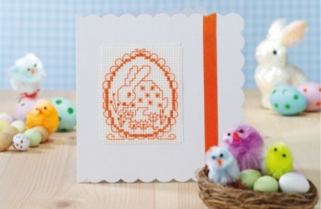 Hand Stitched Easter Gift Cards With Pattern