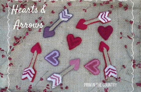 Punch Needle Pattern – Hearts and Arrows