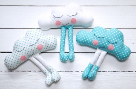 Adorable Embroidered Clouds Pattern