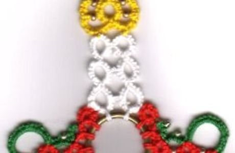 Christmas Tatting Pattern – Candlestick