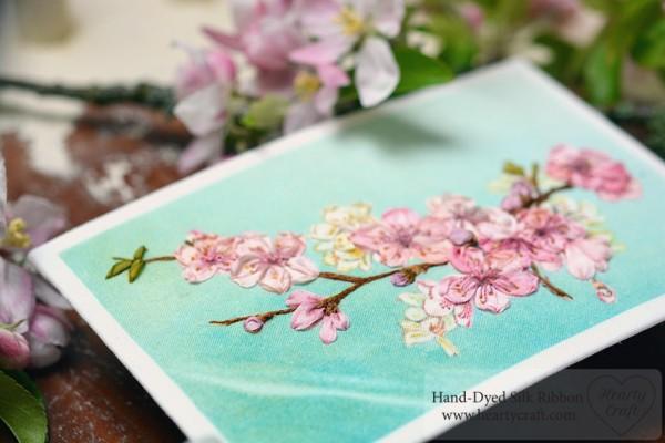 Ribbon Embroidery – Cherry Blossom