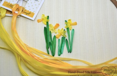 Ribbon Embroidery – Daffodils