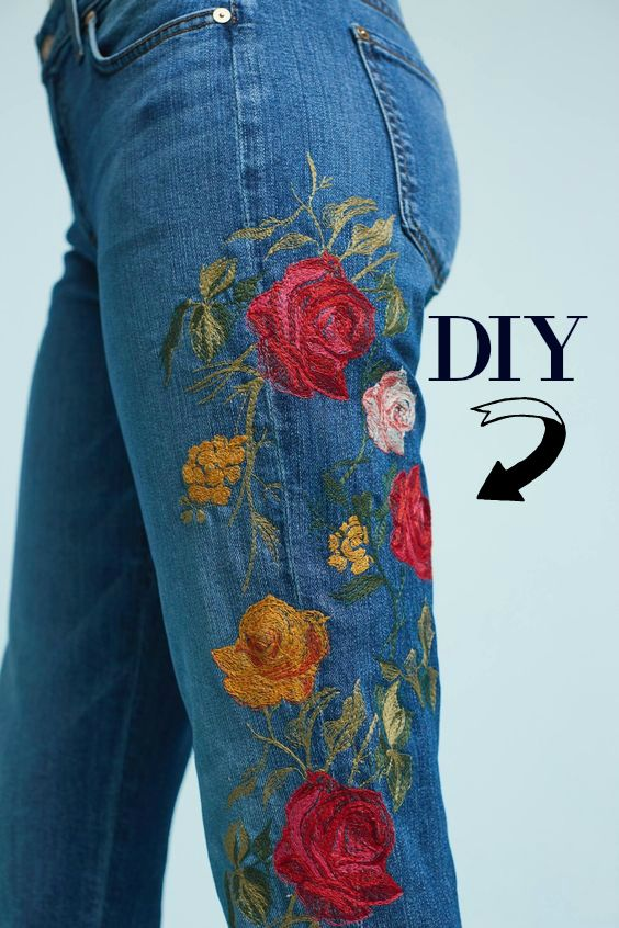 How To Embroider Your Jeans