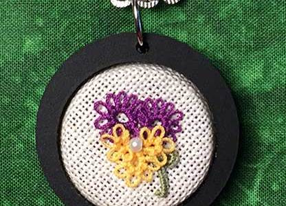 Tatting Pattern – Pansy Flower Brooch