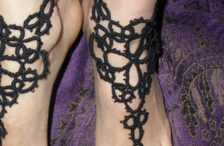 Tatting Pattern – Barefoot Sandals