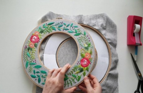 Wreath Embroidery Tutorial