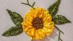 DIY Ribbon Embroidery Flower