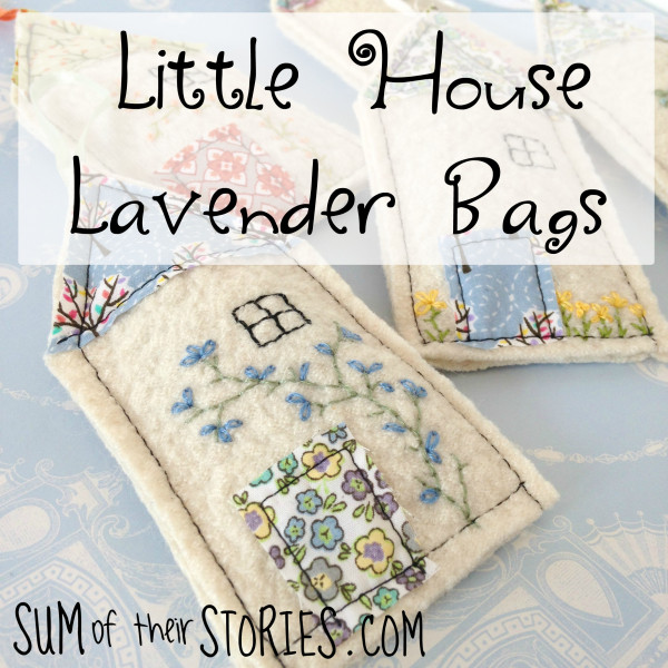 DIY Embroidered Lavender Bags