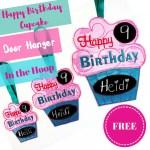 Free Machine Embroidery Pattern - In The Hoop Birthday Door Hanger