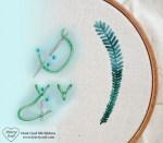 Free Tutorial. Fly Stitch with Silk Ribbon