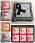 Free In The Hoop Pattern - ITH - Breast Cancer Coaster