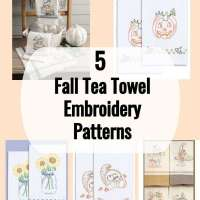 5 Fall Hand Towel Embroidery Designs