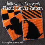 Halloween Plastic Canvas Coasters Free Pattern