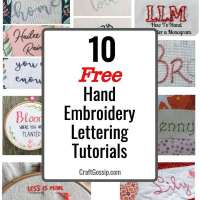 How to Hand Embroider Letters - 10 Free Tutorials