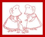 Sunbonnet Babies and Chickens - Free Redwork Pattern