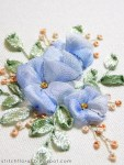 Ribbon Embroidery Forget Me Nots - Free Tutorial