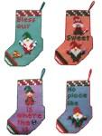 Christmas Gnome Plastic Canvas Stockings