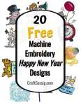 20 Free Happy New Year Machine Embroidery Designs
