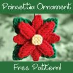 Plastic Canvas Poinsettia Ornament Pattern