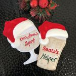 Free Pattern ITH - In The Hoop - Santa Wine Glass Coaster
