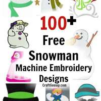 100+ Free Christmas Snowman Machine Embroidery Designs