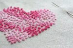 French Knots Heart Hand Embroidery Pattern