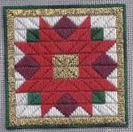 Free Poinsettia Needlepoint Ornament Pattern