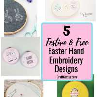 5 Free Easter Hand Embroidery Patterns
