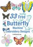 33 Free Butterfly Machine Embroidery Designs