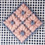 Diamond Eyelet Needlepoint Stitch Tutorial